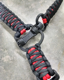 SINGLE POINT MS4 PARACORD SLING (CUSTOM) WITH RED PARACORD INSIDE AND BLACK OUTSIDE