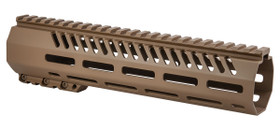 MISSION FIRST TACTICAL TEKKO FREE FLOAT 10 INCH MLOK RAIL - SCORCHED DARK EARTH