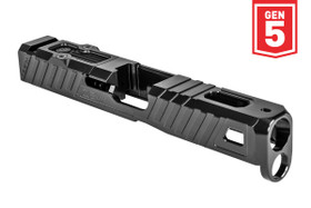 ZEV Z19 GLOCK OMEN STRIPPED SLIDE WITH RMR PLATE, 5TH GEN, BLACK
