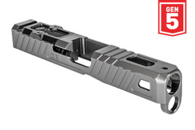 ZEV Z19 GLOCK OMEN STRIPPED SLIDE WITH RMR PLATE, 5TH GEN, GRAY