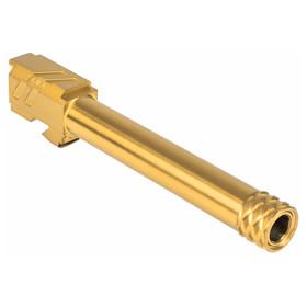 ZEV TECHNOLOGIES PRO MATCH BARREL, G17, GEN1-4, 1/2X28 THREADING, GOLD