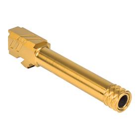 ZEV TECHNOLOGIES PRO MATCH BARREL, G19, GEN1-5, 1/2X28 THREADING, GOLD