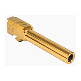 ZEV TECHNOLOGIES PRO MATCH BARREL, G19, GEN1-5, GOLD