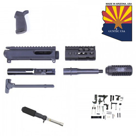 "GUNTEC AR-15 9MM CAL COMPLETE PISTOL KIT (4"" ULTRALIGHT M-LOK HANDGUARD)"
