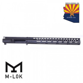 "GUNTEC AR15 STRIPPED BILLET UPPER RECEIVER & 15"" ULTRALIGHT SERIES M-LOK HANDGUARD COMBO SET"