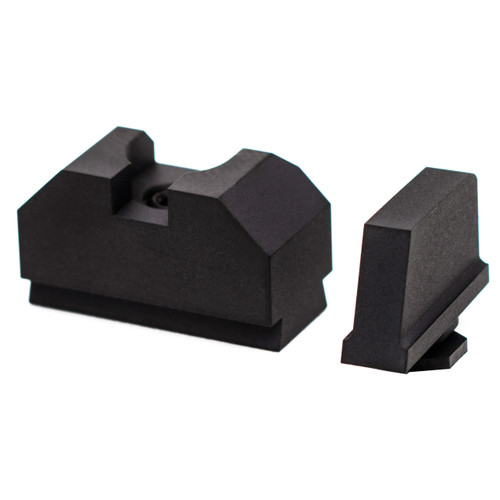 ZEV TECHNOLOGIES SIGHT SET, .300 BLACK FRONT, CO-WITNESS BLACK REAR