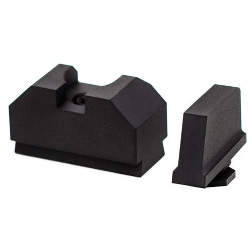 ZEV TECHNOLOGIES SIGHT SET, .300 BLACK FRONT, CO-WITNESS BLACK REAR