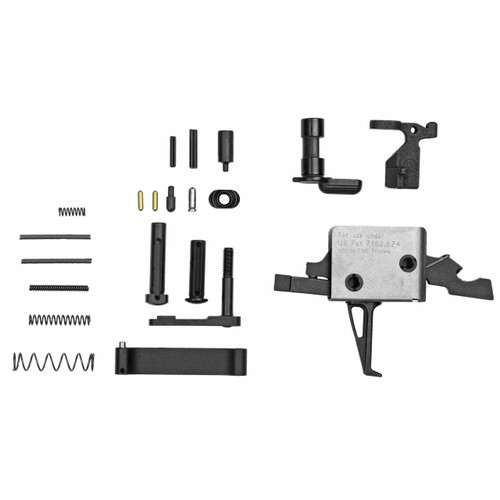 CMC TRIGGERS LOWER ASSEMBLY KIT WITH 3.5 LB FLAT TRIGGER AND ANTI-WALK PIN SET