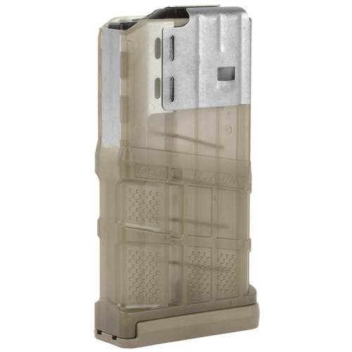 LANCER L7 ADVANCED WARFIGHTER 20 ROUND 7.62 MAGAZINE (L7AWM) - TRANSLUCENT FDE