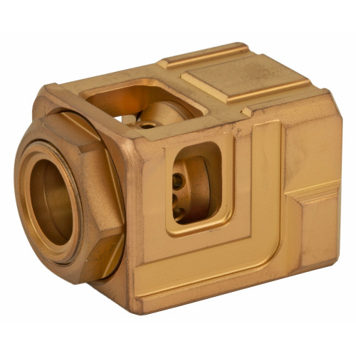 CHAOS GEAR SUPPLY THE OFFICIAL QUBE COMPENSATOR GOLD/ GOLD