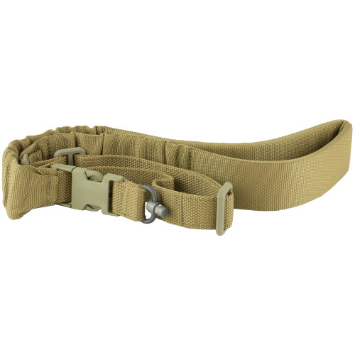 BLUE FORCE GEAR  UDC PADDED BUNGEE SINGLE POINT SLING WITH PUSH BUTTON ADAPTER COYOTE BROWN