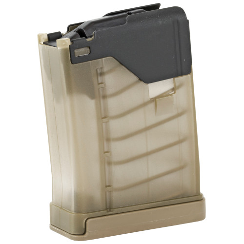 LANCER SYSTEMS L5AWM 5.56 10 ROUND MAGAZINE - TRANSLUCENT DARK EARTH