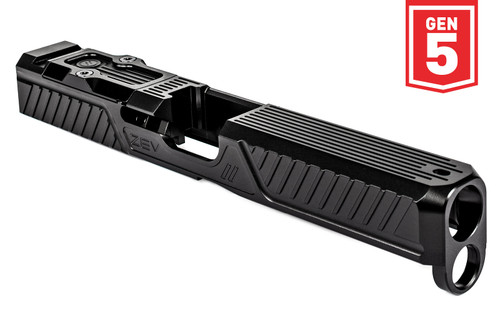 ZEV TECHNOLOGIES Z17 CITADEL STRIPPED SLIDE WITH RMR PLATE FOR 5TH GEN, BLACK
