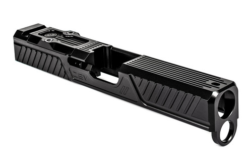 ZEV TECHNOLOGIES Z19 CITADEL STRIPPED SLIDE WITH RMR PLATE FOR 4TH GEN, BLACK