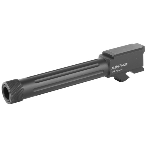 LONE WOLF DISTRIBUTORS ALPHAWOLF BARREL FOR M/19 9MM THREADED 1/2 x 28