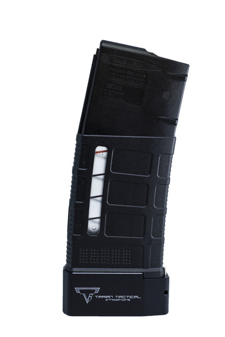 TARAN TACTICAL INNOVSTIONS BASE PAD FOR AR 10 .308 20/25 ROUND PMAG MAGAZINE BLACK
