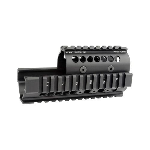 MIDWEST INDUSTRIES UNIVERSAL AK47/74 HANDGUARD WITH STANDARD TOPCOVER - BLACK