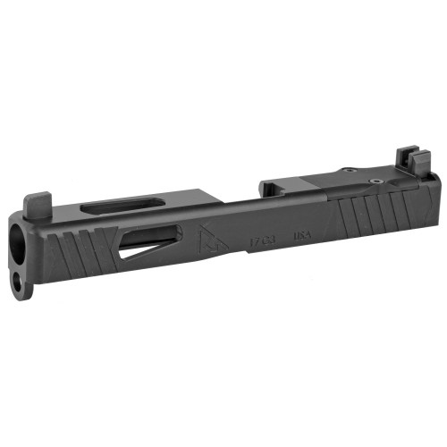 RIVAL ARMS GLOCK 17 MOS GEN 3 RMR CUT SLIDE WITH TRITIUM 3 DOT FRONT/REAR NIGHT SIGHT, ORANGE FRONT SIGHT RING