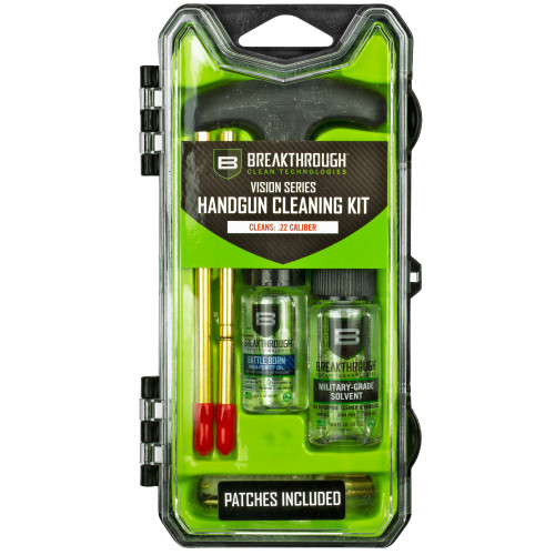 BREAKTHROUGH CLEAN VISION SERIES PISTOL CLEANING KIT – .22 CAL