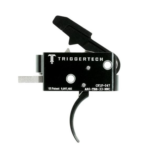 TRIGGERTECH COMPETITIVE TRIGGER (3.5 LBS FIXED) - AR15 PVD CURVED