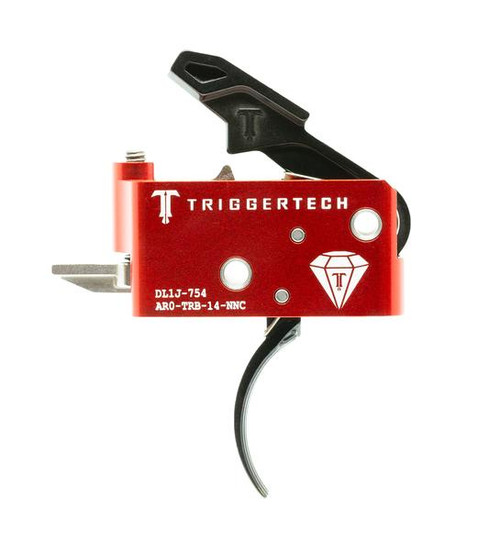 TRIGGERTECH DIAMOND TRIGGER (1.5-4.0 LBS ADJ) - AR15 PVD CURVED