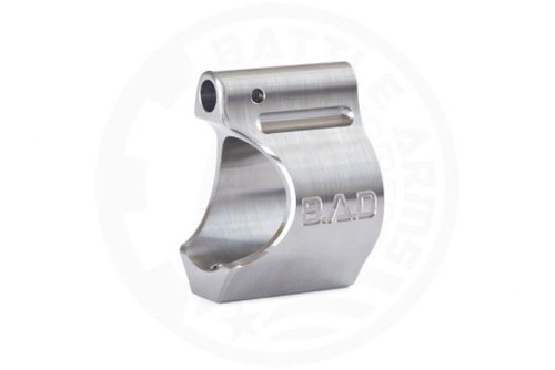 "BATTLE ARMS BAD LIGHTWEIGHT LOW PROFILE TITANIUM GAS BLOCK - .750"" DIA - RAW TI FINISH"