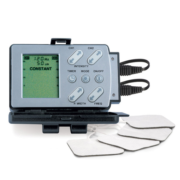 Profile TENS unit with pads