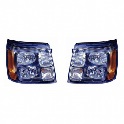 For Cadillac Escalade 2002 Headlight Assembly Type Pair Driver and Passenger Side GM2505126 (CLX-M1-331-11A7P-AS2)