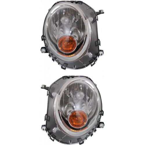 CarLights360: For Mini Cooper Headlight 2007-2013 Pair Driver and Passenger Side | w/ Bulbs | DOT Certified | MC2502105 + MC2503105 (PLX-M1-381-1103L-AFY-CL360A1)