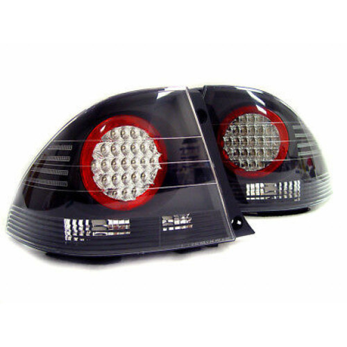 For Lexus IS 300 2001-2005 Tail Light Outer LED Black Pair Driver and Passenger Side