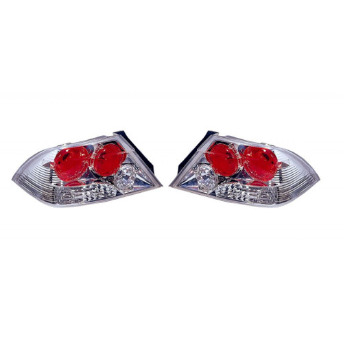 For Mitsubishi Lancer 2002-2003 Tail Light Assembly Altezza Type Chrome Pair Driver and Passenger Side MI2811117
