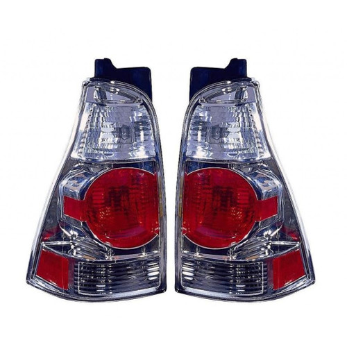 For Toyota 4Runner 2003-2005 Tail Light Assembly Unit Altezza Chrome Driver and Passenger Side (Chrome)