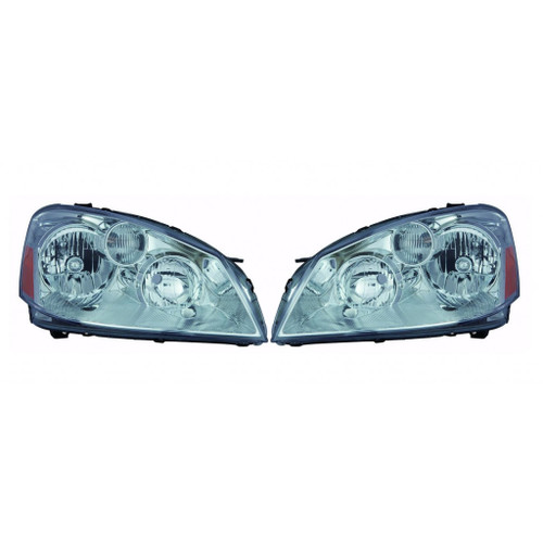 For Nissan Altima 2005-2006 Headlight Assembly Unit Black Bezel Type(06 S.SE.SL Model)  Pair Driver and Passenger Side