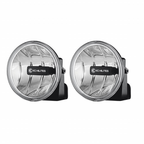 KC HiLiTES 4in. Gravity G4 LED Light 10w SAE/ECE Clear Fog Beam (Pair Pack System)