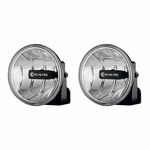 KC HiLiTES 4in. Gravity G4 LED Light 10w SAE/ECE Amber Fog Beam (Pair Pack System)