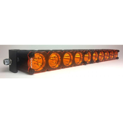 KC HiLiTES Shield for FLEX LED Light Bar Amber Set 50 Inches | (TLX-kcl72100-CL360A70)