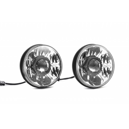KC HiLiTES 07-18 Jeep JK (Not for Rubicon/Sahara) Gravity LED Pro DOT Headlight (Pair Pack Sys) 7in.