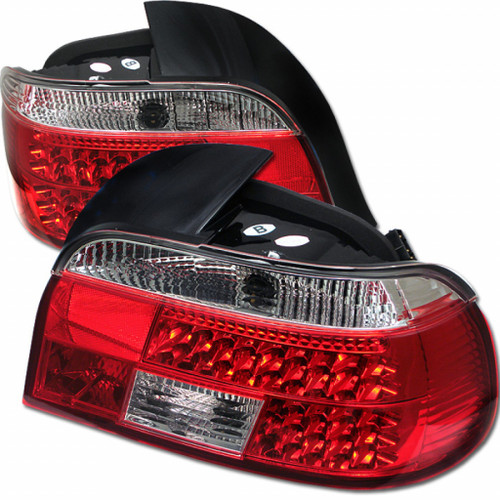 Spyder For BMW E39 5-Series 97-00 LED Tail Lights Red Clear ALT-YD-BE3997-LED-RC | (TLX-spy5000675-CL360A70)