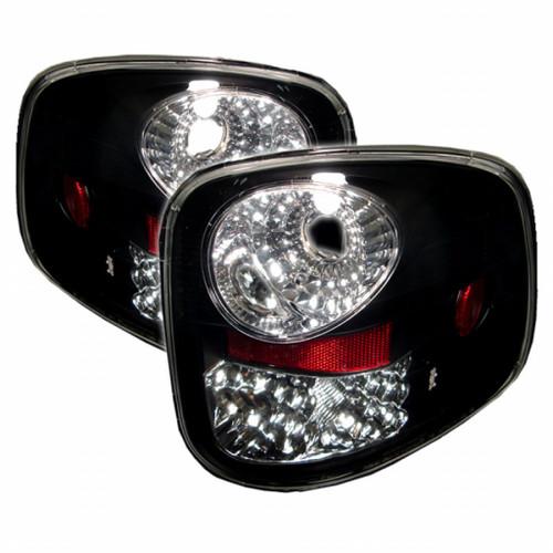 Spyder Ford F150 Flareside 97-03 LED Tail Lights Black ALT-YD-FF15097FS-LED-BK