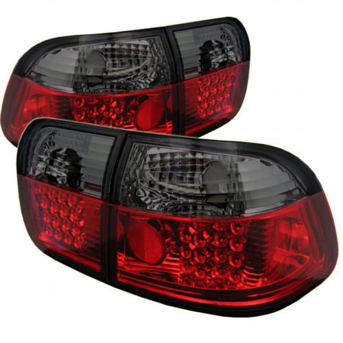 Spyder For Honda Civic 4Dr 96-98 LED Tail Lights Red Smoke ALT-YD-HC96-4D-LED-RS | (TLX-spy5005038-CL360A70)