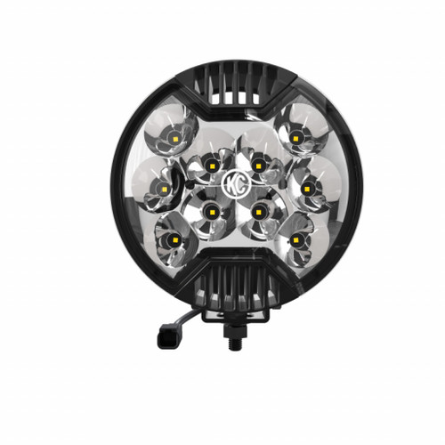 KC Hilites For SlimLite 6in. LED Light 50w Spot Beam (Single) - Black | (TLX-kcl1100-CL360A70)
