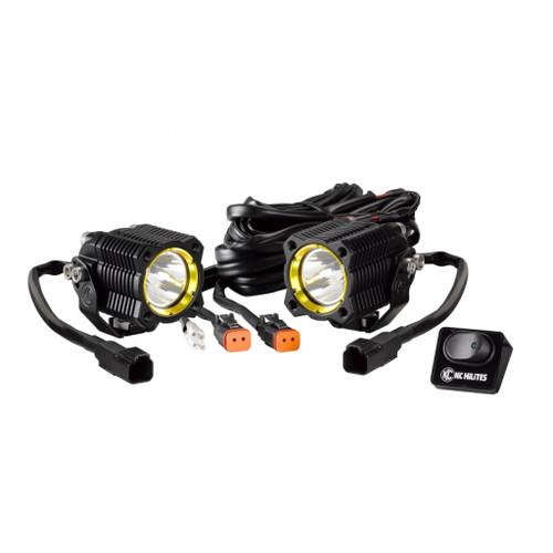 KC HiLiTES FLEX Single LED Light 10w Spot Beam (Pair Pack System) - Black