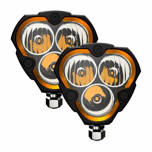 KC HiLiTES FLEX ERA 3 LED Light Combo Beam Pair Pack Sys