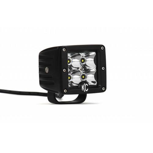 KC HiLiTES C-Series 3in. C3 LED Light 12w Spot Beam (Single) - Black