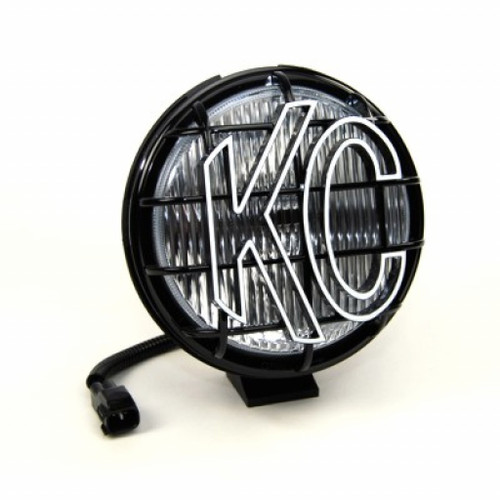 KC HiLiTES For Jeep Wrangler 97-04 Apollo Pro Fog Light 6in. Halogen 55w Single | Black (TLX-kcl1134-CL360A70)