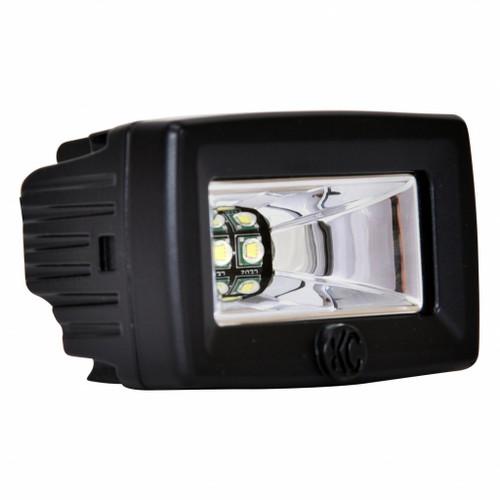 KC HiLiTES C-Series 2in. C2 LED Light 20w Area Flood Beam (Single) - Black