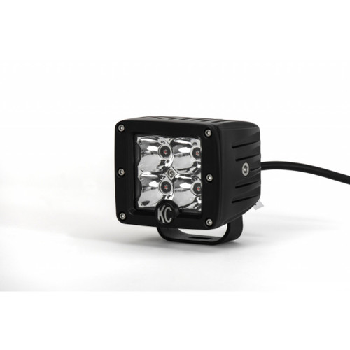 KC HiLiTES C-Series 3in. C3 LED Light Amber 12w Spot Beam (Single) - Black