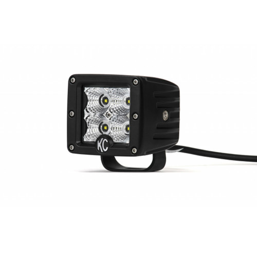 KC HiLiTES C-Series 3in. C3 LED Light 12w Flood Beam (Single) - Black
