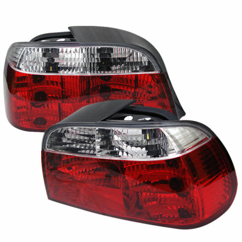 Spyder BMW E38 7-Series 95-01 Crystal Tail Lights Red Clear ALT-YD-BE3895-RC