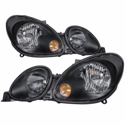 Xtune Lexus GS300/GS400/GS430 98-05 Halogen Only Crystal Headlights Black HD-JH-LGS98-BK